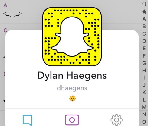 Dylan Haagens Snapchat